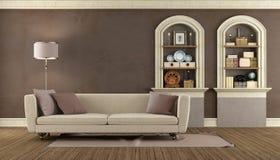Винтажная живущая комната Стоковая Фотография RF