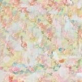 Винтажная затрапезная покрашенная картина флористической предпосылки роз безшовная иллюстрация штока