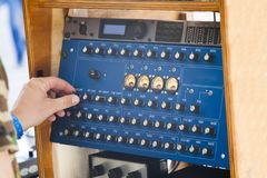 Винтажная звуковая система Стоковая Фотография