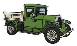 Винтажная зеленая тележка Стоковая Фотография