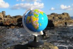 Винтажная земля планеты глобусов стоковое фото rf
