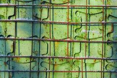 Винтажная зеленая предпосылка металла с барами стоковые изображения rf