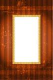 Винтажная золотая предпосылка с белым космосом для текста Стоковые Изображения RF