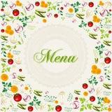 Винтажная здоровая предпосылка меню еды Стоковые Изображения RF