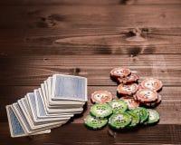 Винтажная игра карточек Стоковые Фото