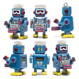 Винтажная игрушка робота олова Стоковая Фотография
