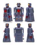 Винтажная игрушка робота олова Стоковые Изображения