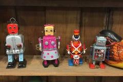 винтажная игрушка робота цинка Стоковые Изображения