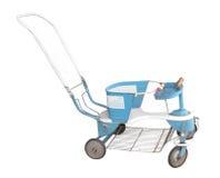 Винтажная изолированная детская сидячая коляска Стоковая Фотография
