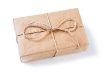 Винтажная изолированная подарочная коробка Стоковые Изображения