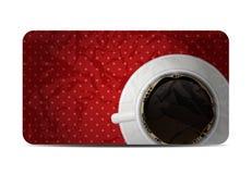 Винтажная иллюстрация вектора карточки подарка кофе Стоковые Фотографии RF