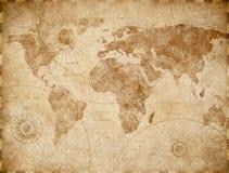 Винтажная иллюстрация карты мира стоковое изображение rf