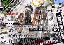 Винтажная иллюстрация с базиликой девой марии Стоковое Изображение