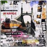 Винтажная иллюстрация с мостом свободы Стоковое Изображение