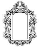 Винтажная имперская барочная рамка зеркала Стоковая Фотография
