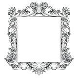 Винтажная имперская барочная рамка рококо Стоковое Фото