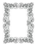 Винтажная имперская барочная рамка рококо Стоковое Изображение