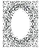 Винтажная имперская барочная рамка рококо Стоковые Изображения RF
