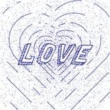 Винтажная иллюстрация вектора сердца как элемент дизайна Стоковая Фотография