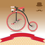 Винтажная иллюстрация велосипеда Стоковые Изображения RF