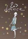 Винтажная иллюстрация девушки танцев Стоковое Фото