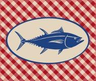 Винтажная иллюстрация мяса тунца Стоковая Фотография RF