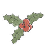 Винтажная иллюстрация омелы Стоковое Изображение
