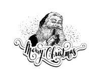 Винтажная иллюстрация рождества Санта Клауса стоковое изображение