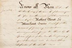 Винтажная каллиграфическая предпосылка текстуры бумаги почерка стоковая фотография