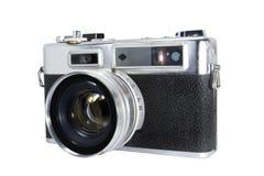 Винтажная камера на изолированной белой предпосылке Стоковое фото RF