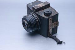 Винтажная камера с объективом стоковое фото rf