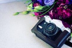 Винтажная камера фото Стоковая Фотография