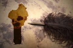 Винтажная карта Бенина стоковая фотография rf