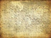 Винтажная карта мира 1847 Стоковые Изображения RF