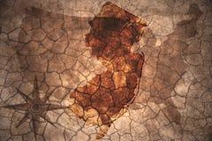 винтажная карта положения Нью-Джерси иллюстрация штока