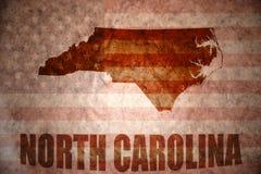 Винтажная карта Северной Каролины Стоковое фото RF