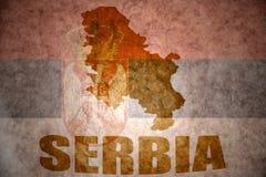 Винтажная карта Сербии Стоковое Изображение RF