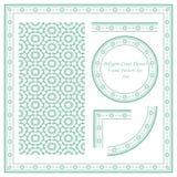 Винтажная картина рамки установила цветок 194 полигонов перекрестный Стоковое Изображение
