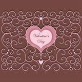 Винтажная картина сердца Стоковое Изображение RF
