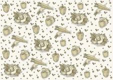 Винтажная картина с грибами иллюстрация вектора