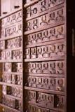 Винтажная картотека Стоковые Изображения RF
