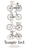 Винтажная карточка велосипеда Стоковое Изображение RF