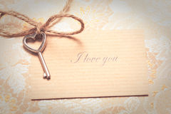 Винтажная карточка влюбленности Стоковое Изображение
