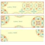 Винтажная карточка с красивой флористической предпосылкой Стоковое Изображение