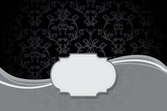 Винтажная карточка с предпосылкой штофа безшовной Стоковые Фото