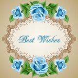 Винтажная карточка цветка с розами Стоковые Изображения RF