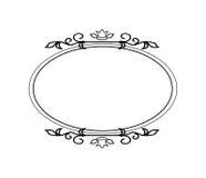 Винтажная каллиграфическая рамка - круглый декоративный флористический элемент с эффектными демонстрациями Стоковые Изображения