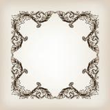 Винтажная каллиграфия рамки границы гравируя барокк Стоковые Изображения