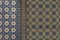 Винтажная керамическая плитка пола Стоковая Фотография RF