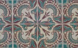 Винтажная керамическая плитка Стоковое Изображение